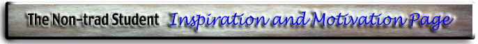 The Nontraditional Student Motivation Page logo